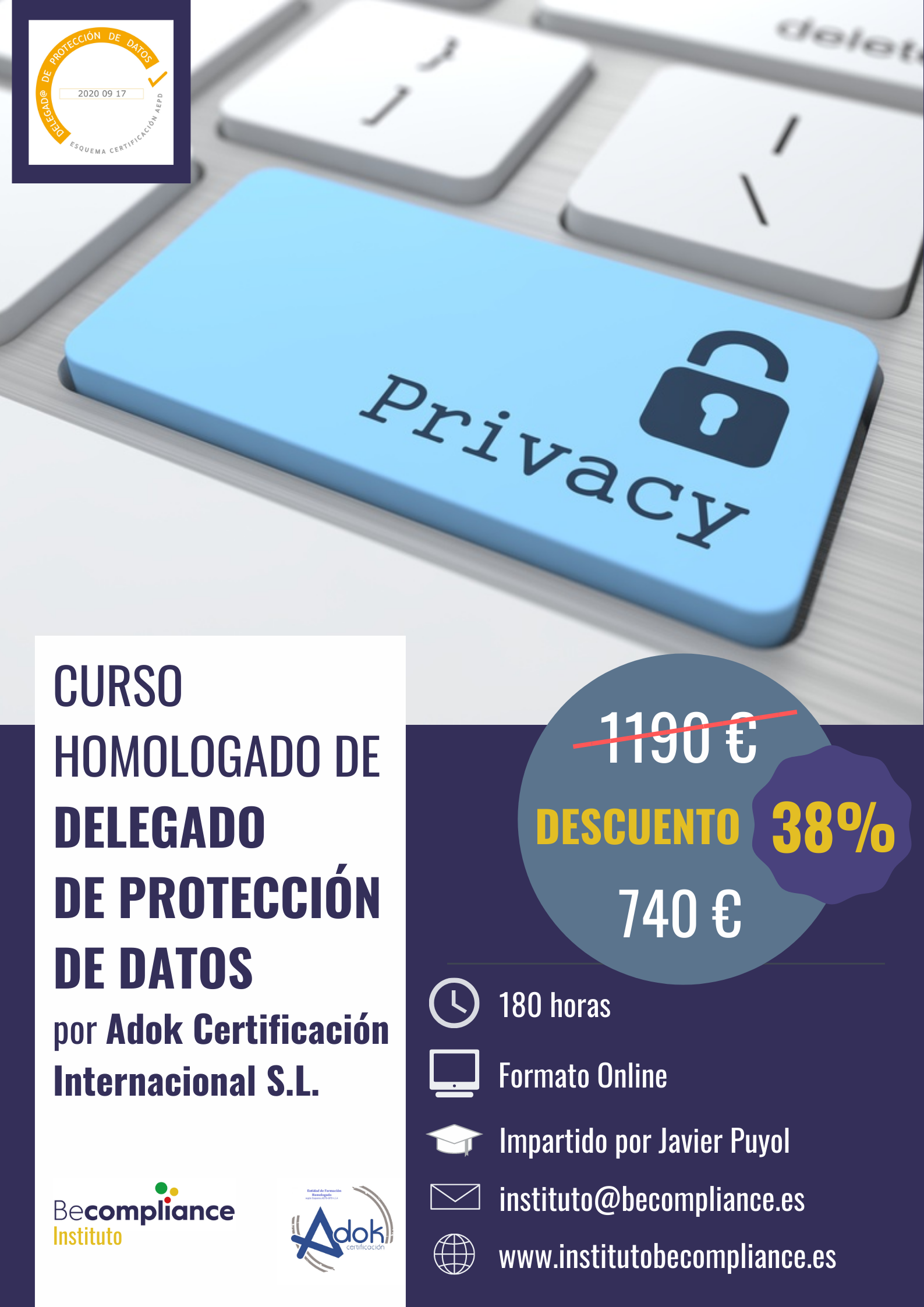 PROGRAMA CERTIFICACIÓN DPO - 180 HORAS